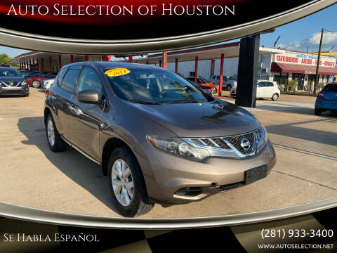 2014 Nissan Murano for sale at Auto Selection of Houston in Houston TX