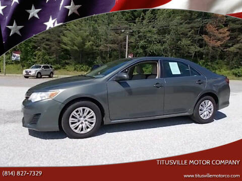 2013 Toyota Camry for sale at Titusville Motor Company in Titusville PA
