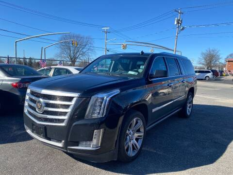 2015 Cadillac Escalade ESV for sale at American Best Auto Sales in Uniondale NY