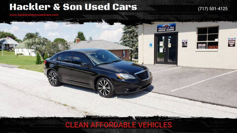 2014 Chrysler 200 for sale at Hackler & Son Used Cars in Red Lion PA