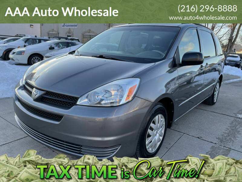 2004 Toyota Sienna for sale at AAA Auto Wholesale in Parma OH
