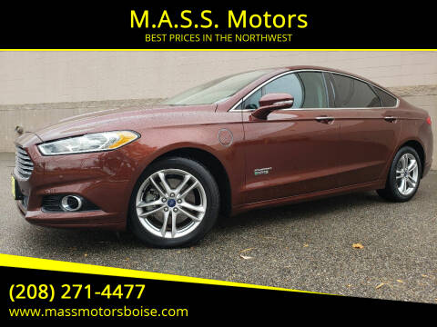 2015 Ford Fusion Energi for sale at M.A.S.S. Motors in Boise ID