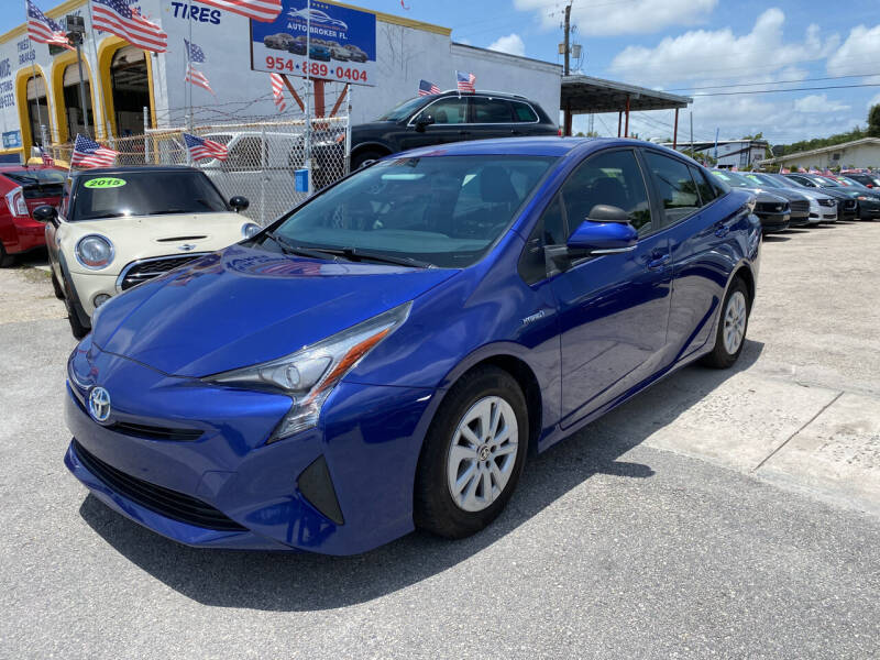2016 Toyota Prius for sale at INTERNATIONAL AUTO BROKERS INC in Hollywood FL