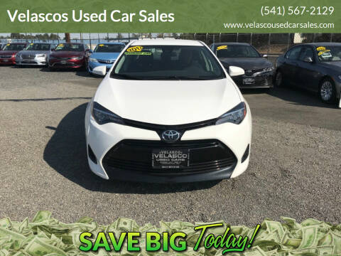2017 Toyota Corolla for sale at Velascos Used Car Sales in Hermiston OR