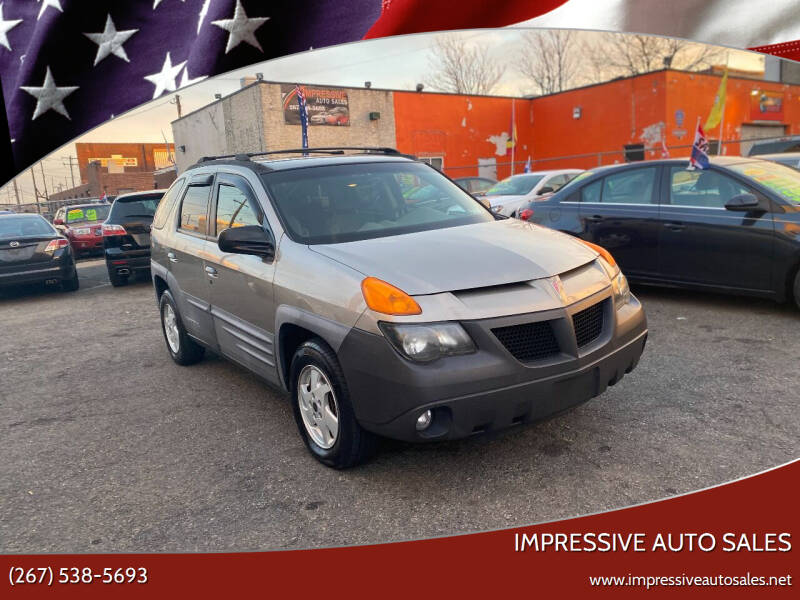 2001 Pontiac Aztek for sale at Impressive Auto Sales in Philadelphia PA