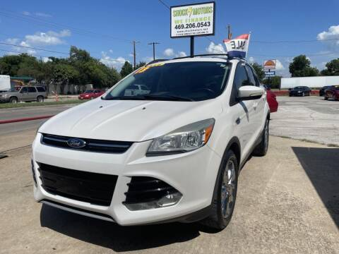 2013 Ford Escape for sale at Shock Motors in Garland TX