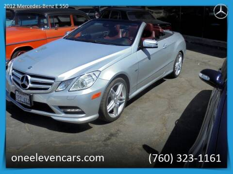 2012 Mercedes-Benz E-Class for sale at One Eleven Vintage Cars in Palm Springs CA