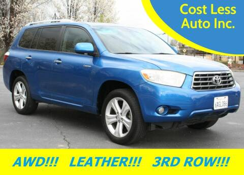 2008 Toyota Highlander for sale at Cost Less Auto Inc. in Rocklin CA