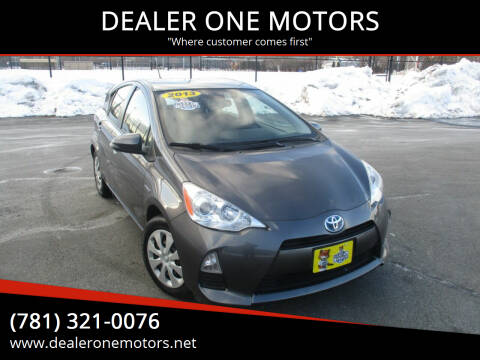 2013 Toyota Prius c for sale at DEALER ONE MOTORS in Malden MA