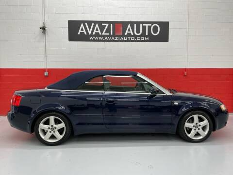 2005 Audi A4 for sale at AVAZI AUTO GROUP LLC in Gaithersburg MD