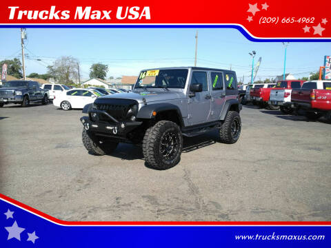 2016 Jeep Wrangler Unlimited for sale at Trucks Max USA in Manteca CA