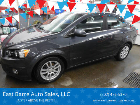 2012 Chevrolet Sonic for sale at East Barre Auto Sales, LLC in East Barre VT