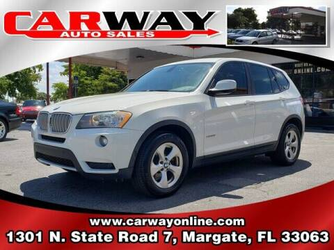 2011 BMW X3 for sale at CARWAY Auto Sales in Margate FL