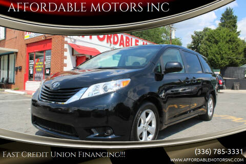2015 Toyota Sienna for sale at AFFORDABLE MOTORS INC in Winston Salem NC