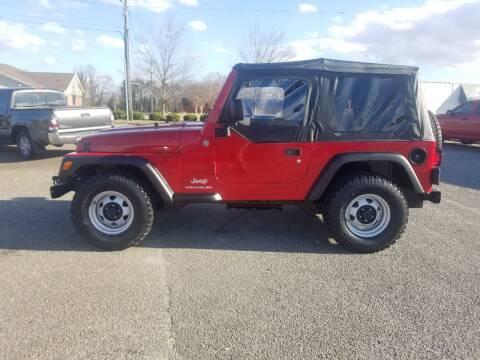 2004 Jeep Wrangler for sale at 4M Auto Sales | 828-327-6688 | 4Mautos.com in Hickory NC