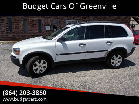 2005 Volvo XC90 for sale at Budget Cars Of Greenville in Greenville SC