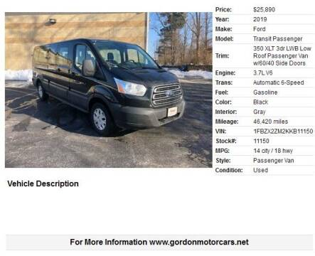 2019 Ford Transit Passenger for sale at Gordon Motor Cars, LLC in Frazer PA