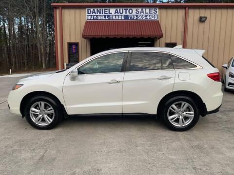 2014 Acura RDX for sale at Daniel Used Auto Sales in Dallas GA