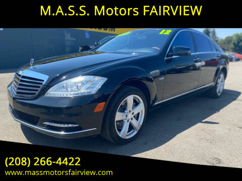 2012 Mercedes-Benz S-Class for sale at M.A.S.S. Motors - Fairview in Boise ID