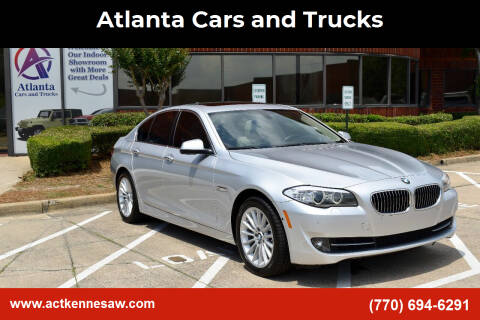2013 BMW 5 Series for sale at Atlanta Cars and Trucks in Kennesaw GA