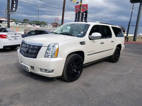 2014 Cadillac Escalade ESV for sale at ON THE MOVE INC in Boerne TX