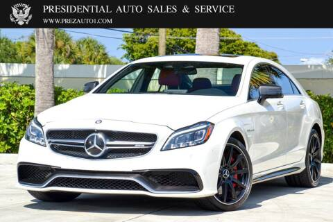 2016 Mercedes-Benz CLS for sale at Presidential Auto  Sales & Service in Delray Beach FL