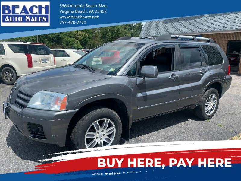 2004 Mitsubishi Endeavor for sale at Beach Auto Sales in Virginia Beach VA