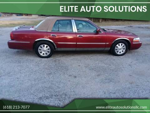 2003 Mercury Grand Marquis for sale at ELITE AUTO SOLUTIONS in Belleville IL