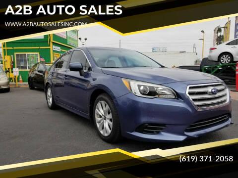 2017 Subaru Legacy for sale at A2B AUTO SALES in Chula Vista CA