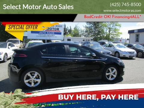 2011 Chevrolet Volt for sale at Select Motor Auto Sales in Lynnwood WA
