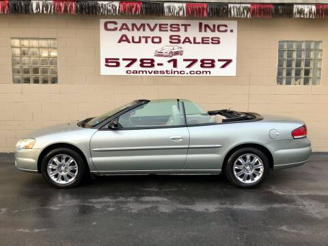 2006 Chrysler Sebring for sale at Camvest Inc. Auto Sales in Depew NY