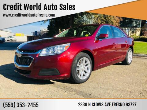2015 Chevrolet Malibu for sale at Credit World Auto Sales in Fresno CA