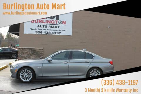 2011 BMW 5 Series for sale at Burlington Auto Mart in Burlington NC