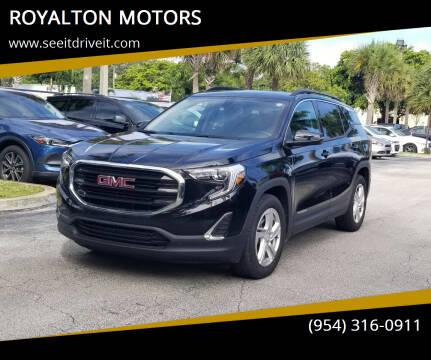2018 GMC Terrain for sale at ROYALTON MOTORS in Plantation FL