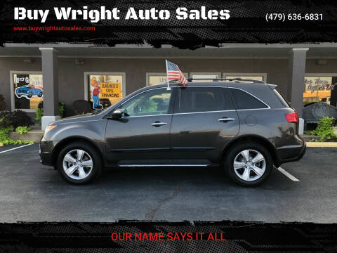 2010 Acura MDX for sale at Buy Wright Auto Sales in Rogers AR