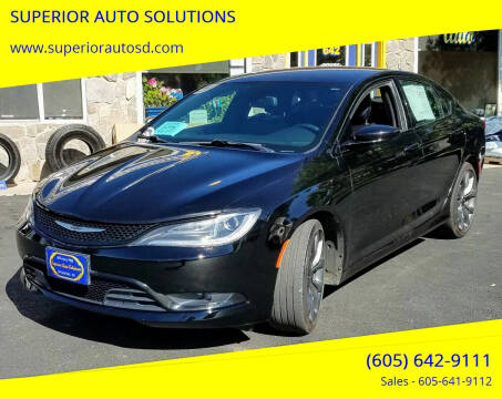 2015 Chrysler 200 for sale at SUPERIOR AUTO SOLUTIONS in Spearfish SD