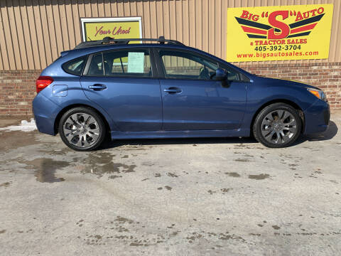 2012 Subaru Impreza for sale at BIG 'S' AUTO & TRACTOR SALES in Blanchard OK