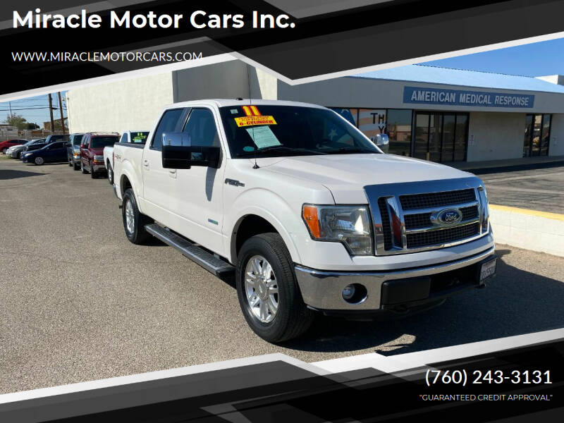 2011 Ford F-150 for sale at Miracle Motor Cars Inc. in Victorville CA