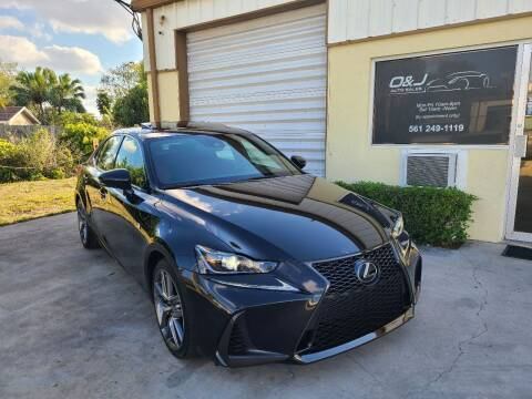 2017 Lexus IS 200t for sale at O & J Auto Sales in Royal Palm Beach FL