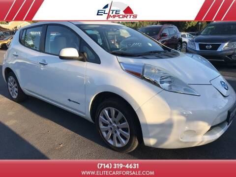 2013 Nissan LEAF for sale at MIKE AHWAZI in Santa Ana CA