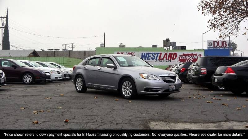 2013 Chrysler 200 for sale at Westland Auto Sales on 7th in Fresno CA