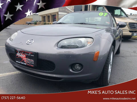 2007 Mazda MX-5 Miata for sale at Mike's Auto Sales INC in Chesapeake VA