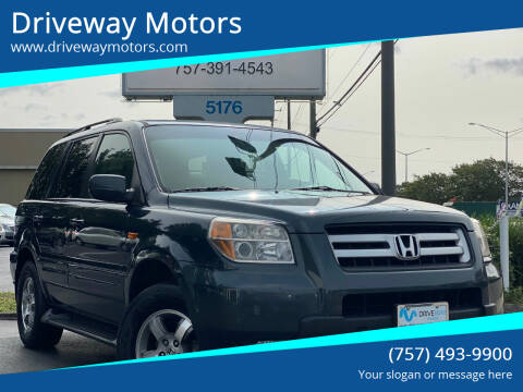 2006 Honda Pilot for sale at Driveway Motors in Virginia Beach VA