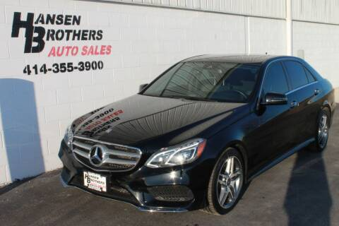 2016 Mercedes-Benz E-Class for sale at HANSEN BROTHERS AUTO SALES in Milwaukee WI
