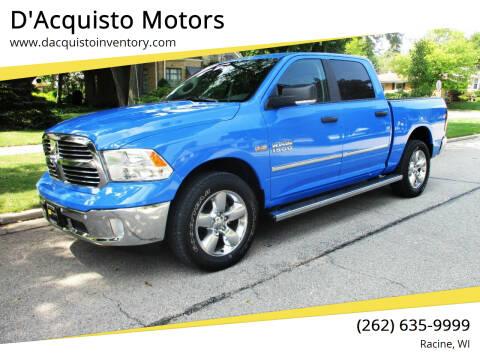 2018 RAM Ram Pickup 1500 for sale at D'Acquisto Motors in Racine WI