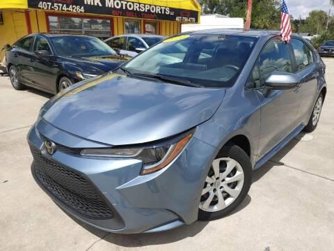 2020 Toyota Corolla for sale at MK Motorsports LLC. in Orlando FL