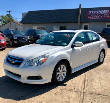 2010 Subaru Legacy for sale at Stephen Motor Sales LLC in Caldwell OH