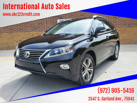 2015 Lexus RX 350 for sale at International Auto Sales in Garland TX