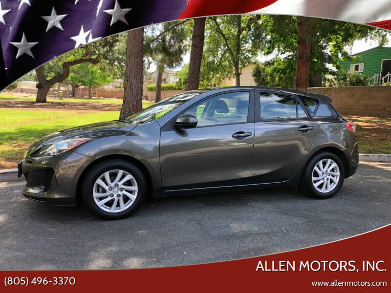 2012 Mazda MAZDA3 for sale at Allen Motors, Inc. in Thousand Oaks CA