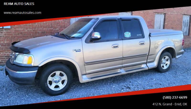 2002 Ford F-150 for sale at REAM AUTO SALES in Enid OK